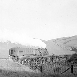 A train on the old trestle